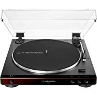 Audio-Technica At-LP60X-BW Fully Automatic Belt-Drive Stereo Turntable, Hi-Fi, 2 Speed, Dust Cover, Anti-Resonance, Die-Cast Aluminum Platter