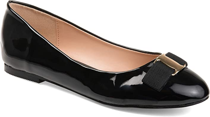 Journee Collection Womens Patent Round