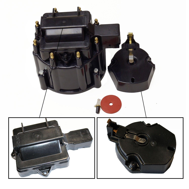 Hei Distributor Blue Cap For Sbc Bbc Chevy V8 50k 454 Gm Coil Wiring 65k Automotive