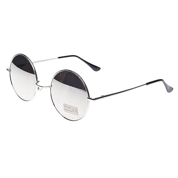 Cyber ronde John Lennon glasses miroir goggles de soleil des Lunettes de Steampunk Antique Copper tZOpJms52