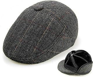Sheng Cappello in Pile da Uomo Cappellino Irlandese Cappello in Lana di edera Cappello (56-60cm) (A) (Colore : A, Dimensioni : 57 Centimetri)