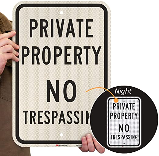 "NOTICE PRIVATE PROPERTY NO TRESPASSING Aluminum SIGN ~ 19.5/"" X 14/"" ~ BRAND NEW"