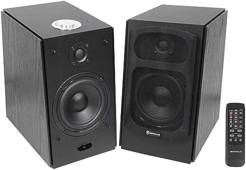 Rockville HD5B 150w Black Home Theater System Bookshelf Speakers Bluetooth USB