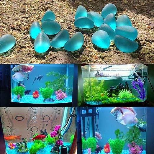 500g 70-80 PCS Azul hermosa pecera acuario paisaje decorativo piedras perlas jardín decoración accesorios de siembra: Amazon.es: Juguetes y juegos