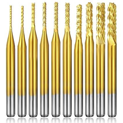 """1//16/"""" Carbide End Mill CNC Router PCB Dremel ONE PIECE-*DP* Two Flute"""