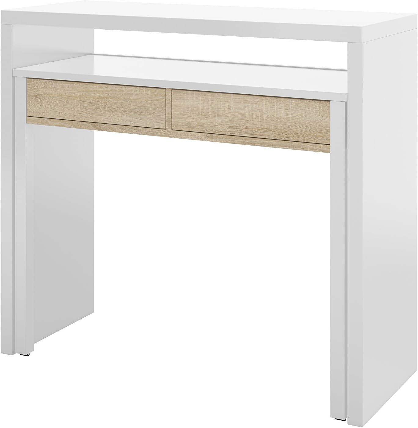 EGLEMTEK Mesa escritorio consola extensible ahorra espacio ...