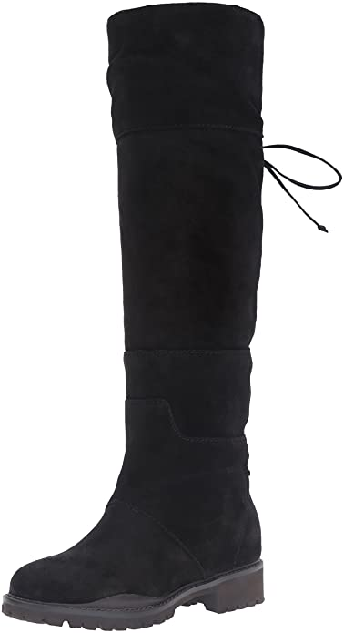 Amazon.com | Nine West Women's Mavira Suede Knee-High Boot | Over ...