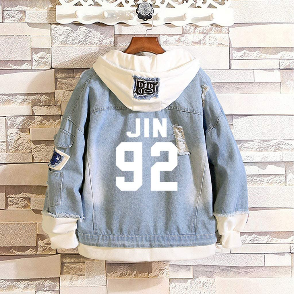 Aopostall Kpop BTS Denim Jacket Jimin Jungkook Suga V JHope RM Hoodie Jean Sweatshirt Sweater
