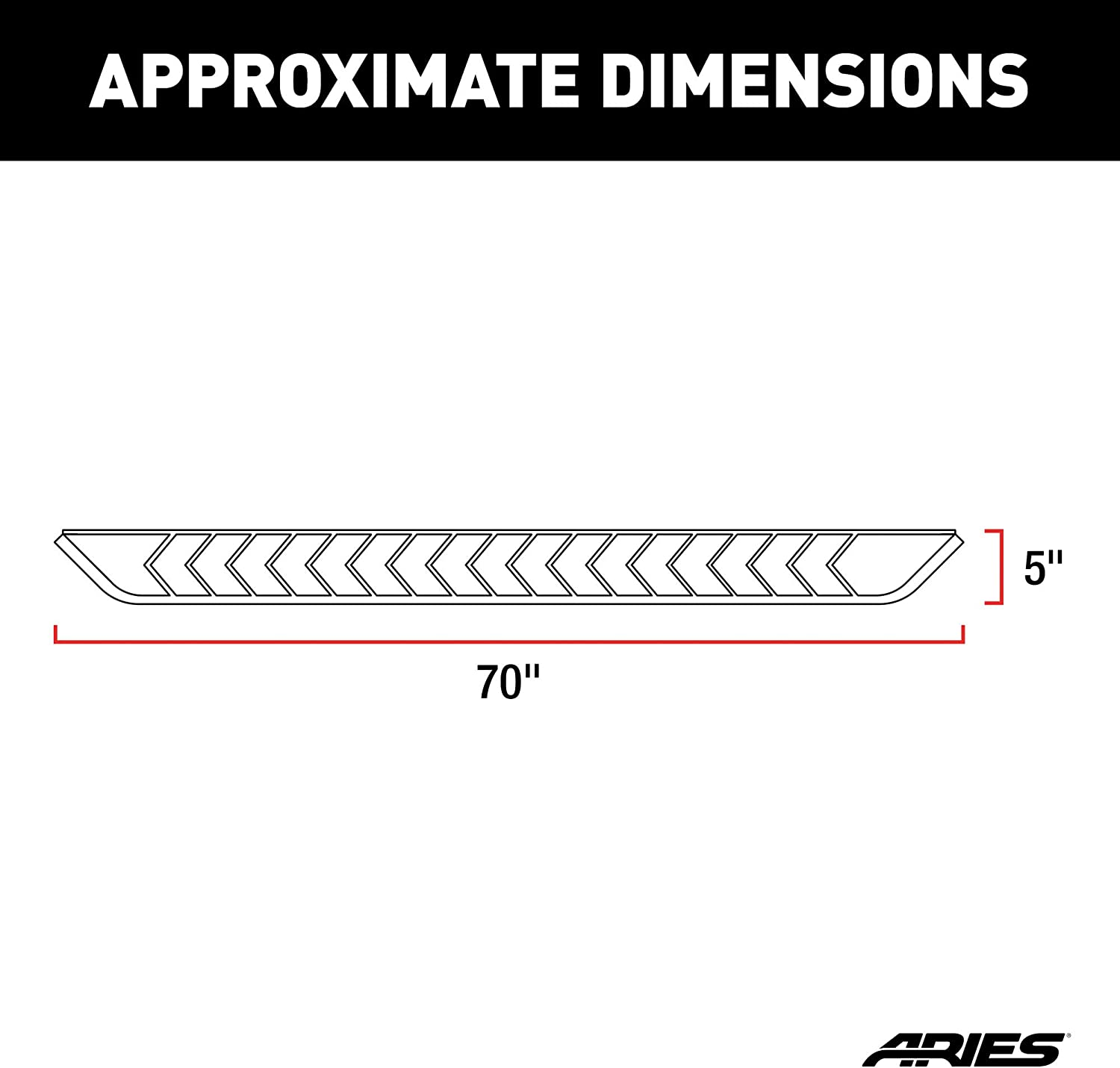 ARIES 2051019 AeroTread 70-Inch Polished Stainless Steel SUV Running Boards Select Hyundai Tucson