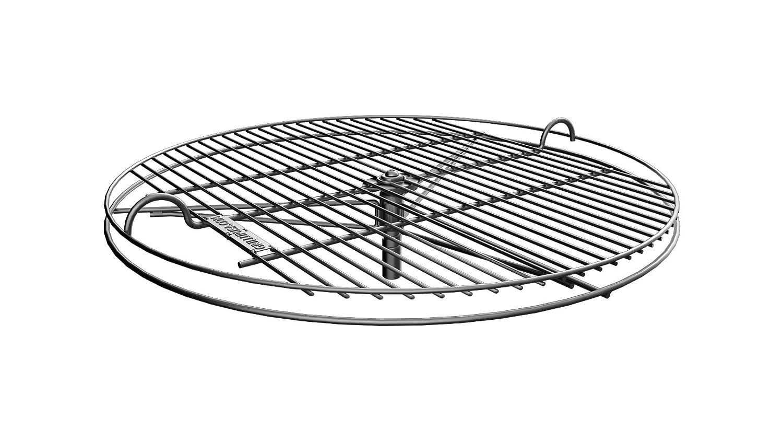 GrillUp rejilla de parrilla para barbacoa con altura ajustable | 100% de acero inoxidable para Weber y otras parrillas de carbón de 57cm (22