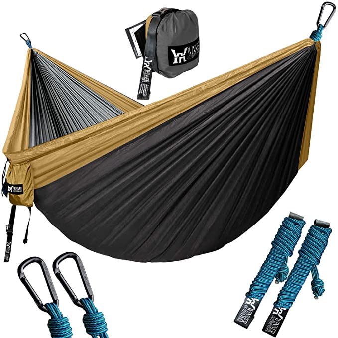 WINNER OUTFITTERS Double Camping Hammock – Best Backpacking Hammock