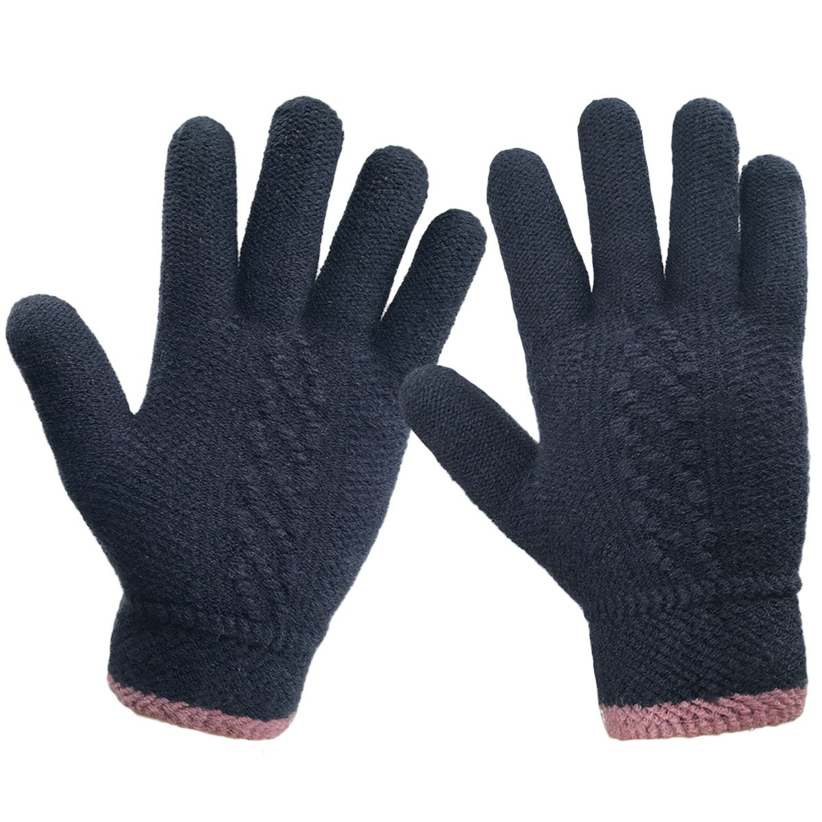 LETHMIK Unique Cuff Winter Gloves Womens Solid Color Warm Knitted Thick Gloves women gloves winter