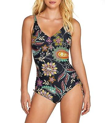 90ae7571d9eb0 Fantasie Womens Kerala Underwire Adjustable Leg V-Neck Swimsuit:  Amazon.co.uk: Clothing