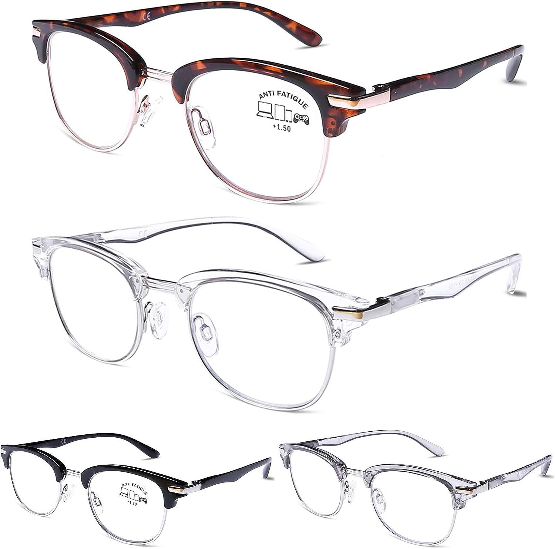 DOOViC Blue Light Blocking Reading Glasses Computer Readers Anti Eyestrain