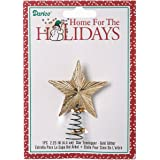 Darice 5-Point Star Tree Topper, 2.25-Inch, Gold Glitter