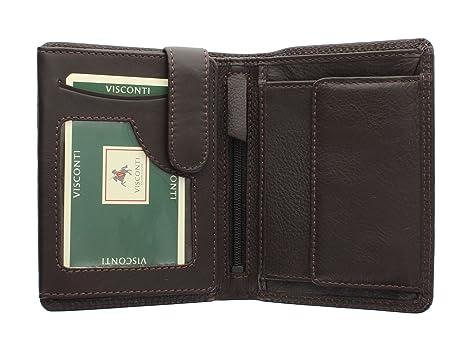 80f3a5bace Portafoglio Bi-Fold in Pelle Visconti Collezione Heritage BRIXTON HT11  Cioccolato