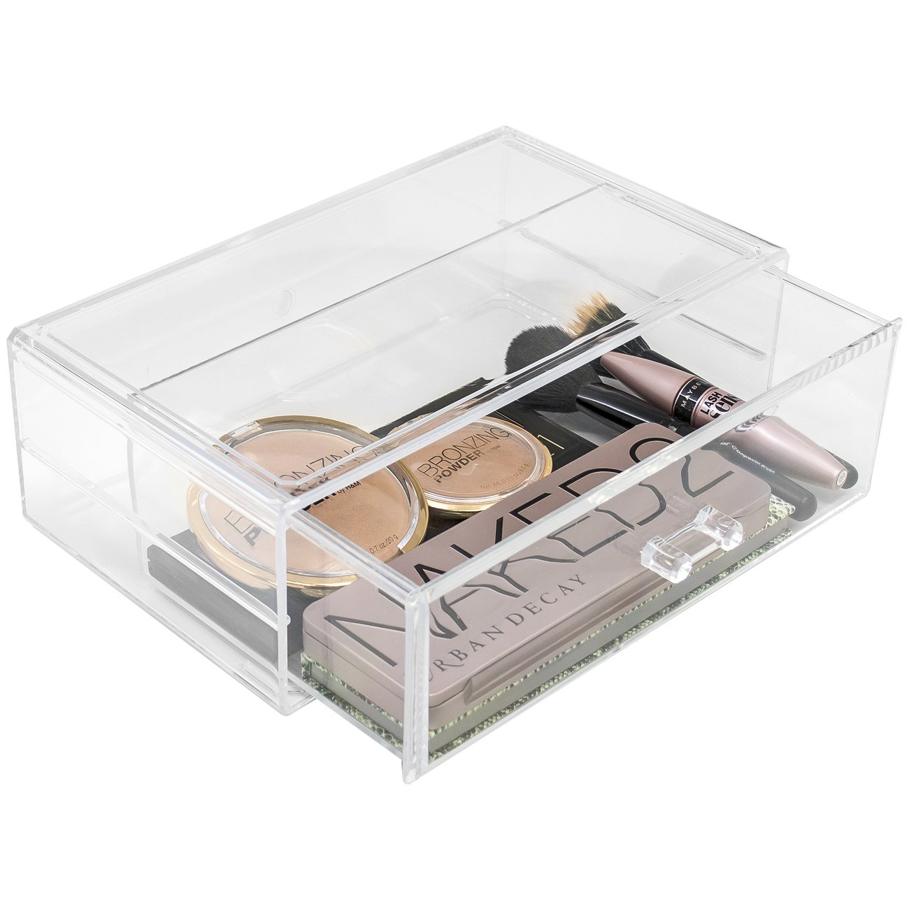 Sorbus Acrylic Cosmetics Makeup and Jewelry Storage Case Display Sets - Interlocking Drawers to Create Your Own Specially Designed Makeup Counter - Stackable and Interchangeable (Clear) MUP-SSET2-145