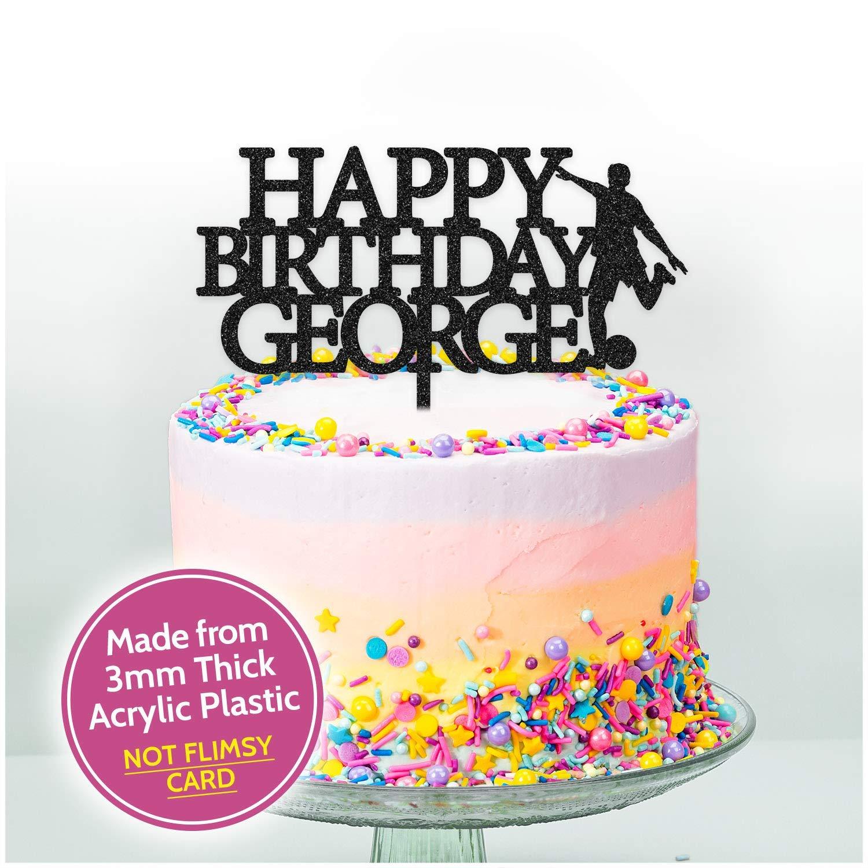 Female Birthday Photography Personalised Name Acrylic Cake Topper Camera
