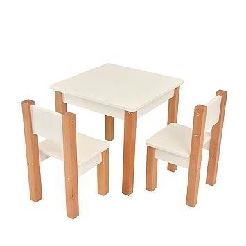 Bilira Kids Kindertisch Spieltisch Tisch Zwei Stuhle Weiss Modern