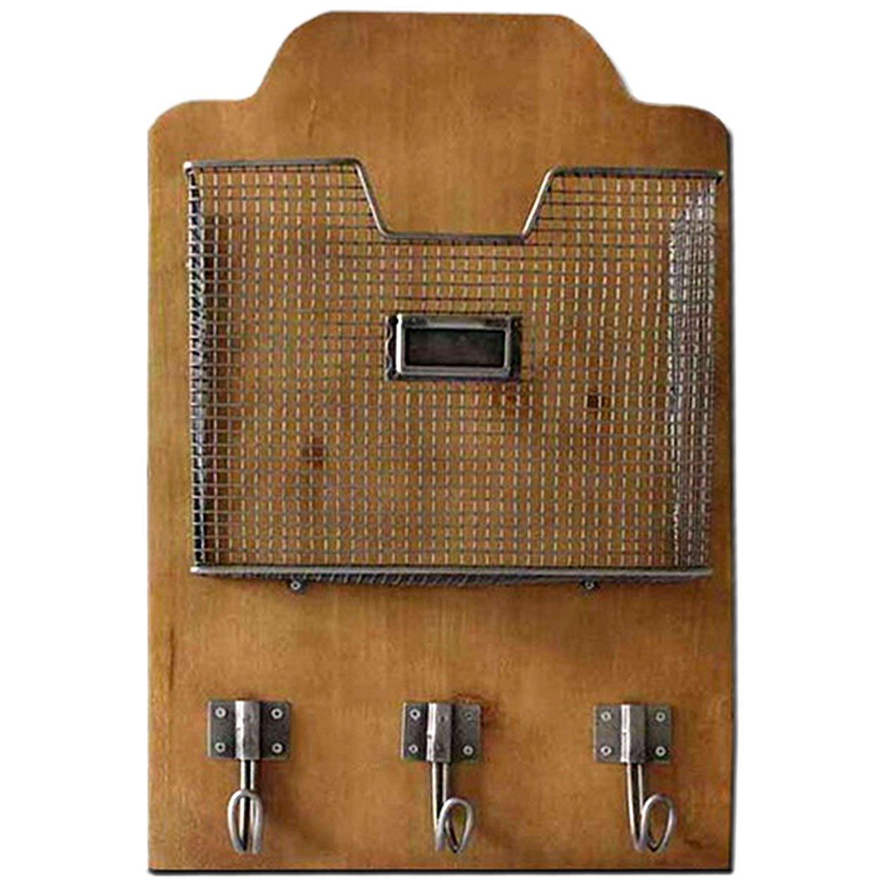 Heartwwood Metal Letter Rack /& Hooks