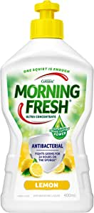 Morning Fresh Antibacterial Lemon Dishwashing Liquid, Lemon 400 milliliters