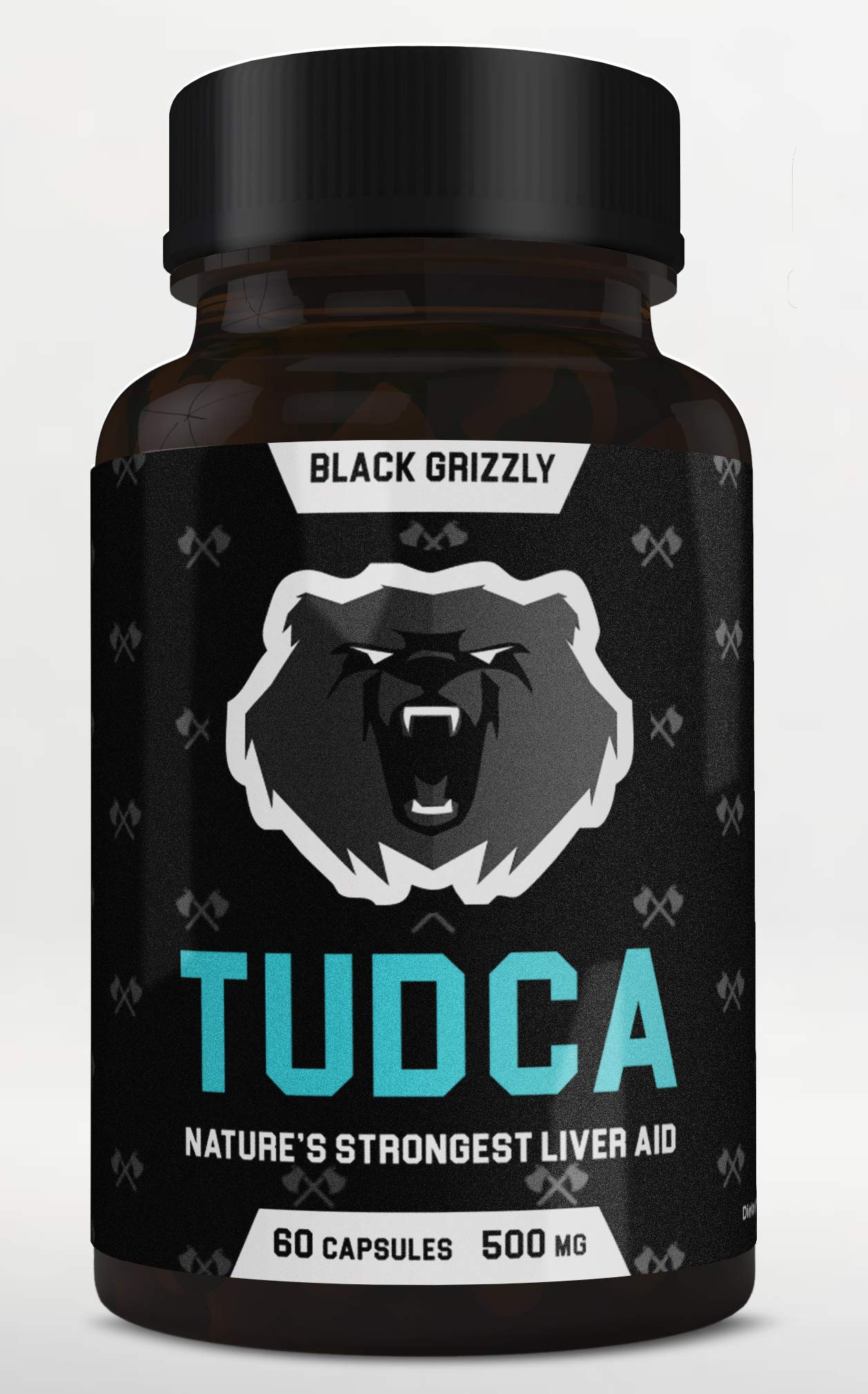 Black Grizzly Maximum Strength TUDCA 500 MG (Tauroursodeoxycholic Acid) - 500 MG Per Serving for Ultimate Liver Support & Immune Health -Nature's Strongest Liver Aid- 60 Serv by Black Grizzly