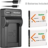 Kastar Slim USB Battery Chargers with Battery for Sony NP-BN1 NPBN1 BC-CSN and Cyber-shot DSC-QX10 QX30 QX100 DSC-TF1 DSC-TX10 TX20 DSC-TX30 DSC-W530 DSC-W570 DSC-W650 Digital Camera - Pack of 2