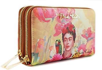 Frida Kahlo Floral Series Double Zip Wallet / Wristlet