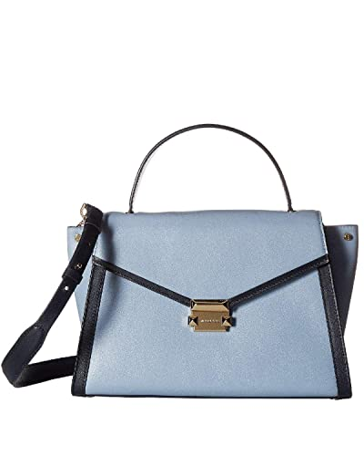 475adf0dfff2 Amazon.com  MICHAEL Michael Kors Whitney Large Satchel - Pale Blue Admiral   Shoes
