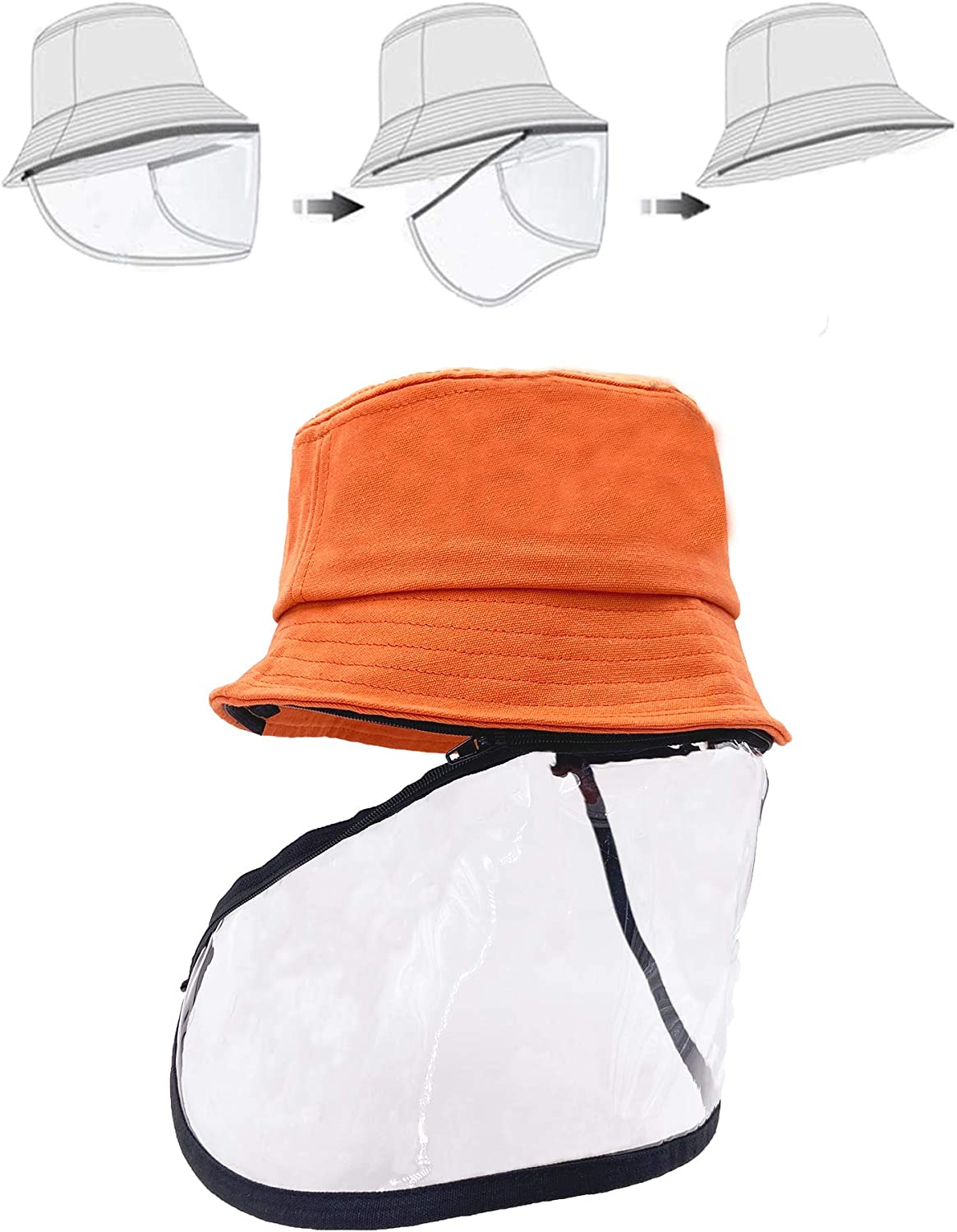Safety Facial Protective Bucket Hat Outdoor Boonie Fisherman Hat For Adults Kids
