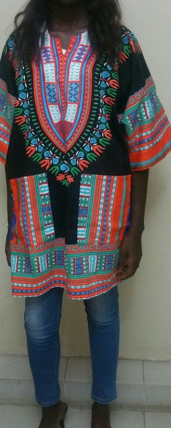 Dashiki Black and Orange Shirt