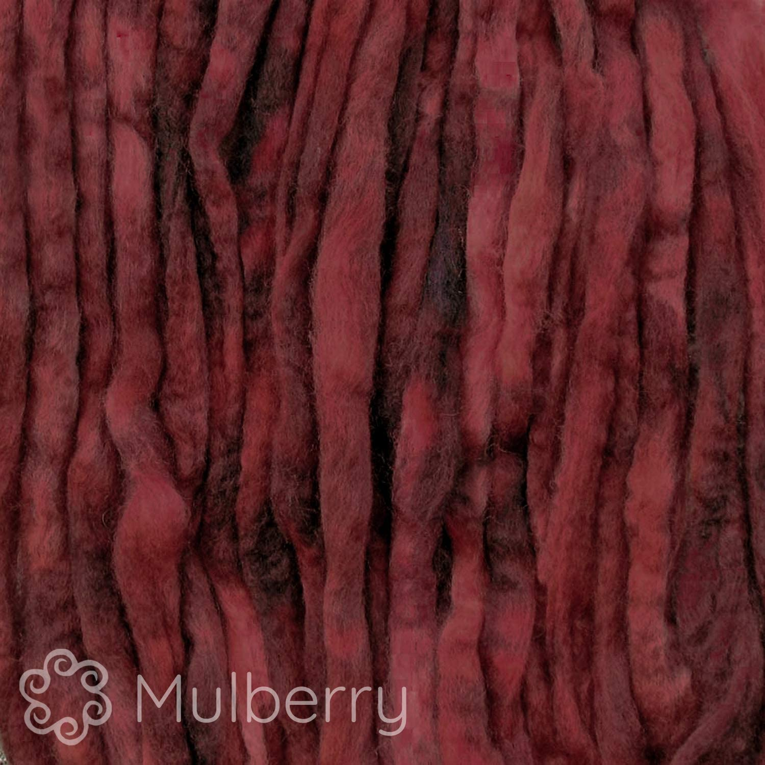 Artisanal Craft Fiber ideal for Felting Wool Roving Hand Dyed Wall Hangings and Embellishments Super Soft BFL Combed Top Pre-Drafted for Easy Hand Spinning 4 Ounce Mahogany Weaving