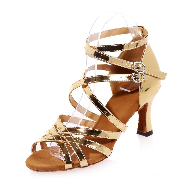 Elegant high schuhe Damenschuhe Bauch Latin Modernes Leder Leder Leder Funkelnde Pailletten   7.5cm absatzhöhe B077DB3LSK Tanzschuhe Sehr gute Qualität f726ba