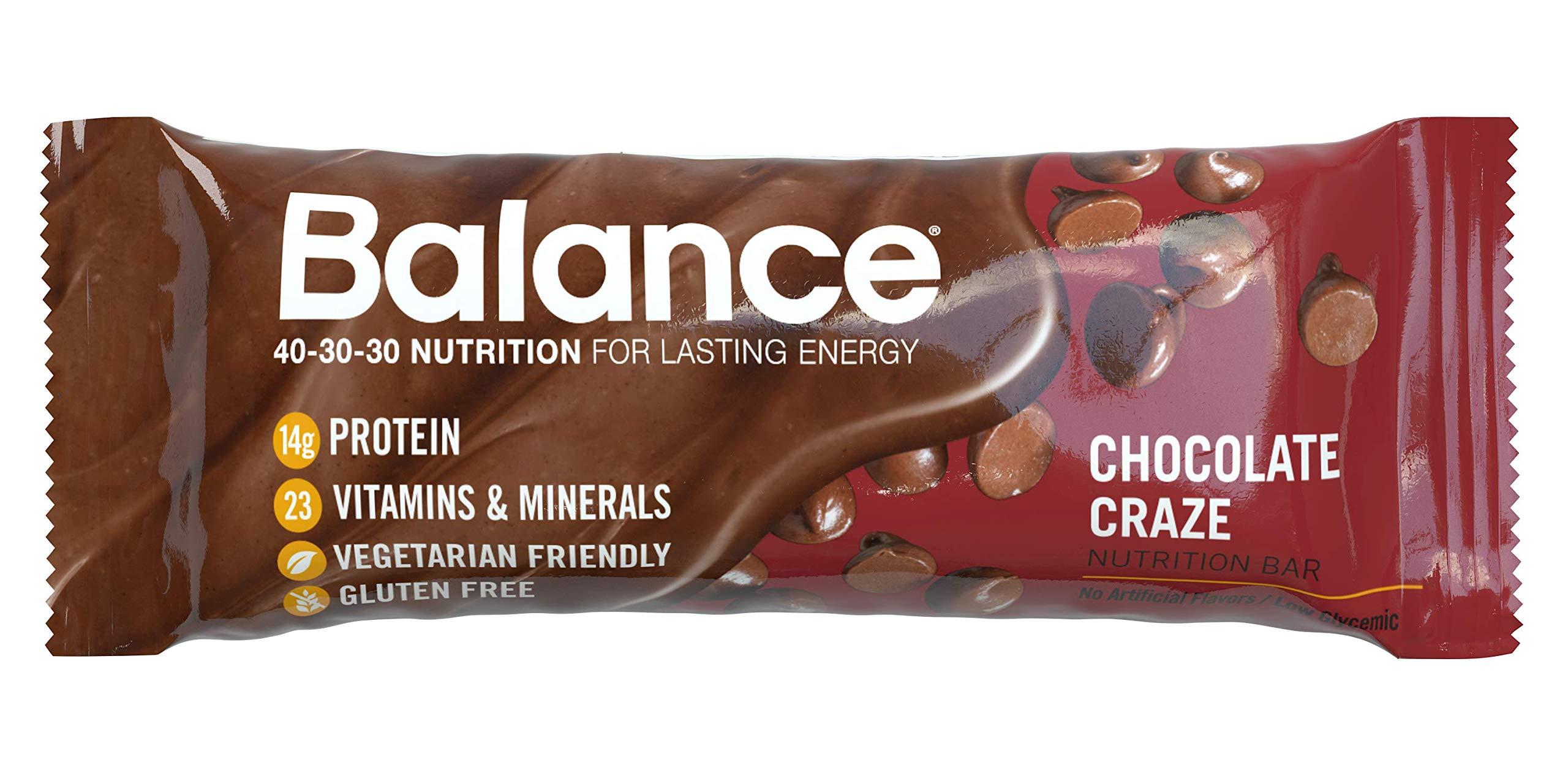 Balance Bar, Healthy Protein Snacks, Chocolate Craze, 1.76 oz, 6 Count by BALANCE Bar