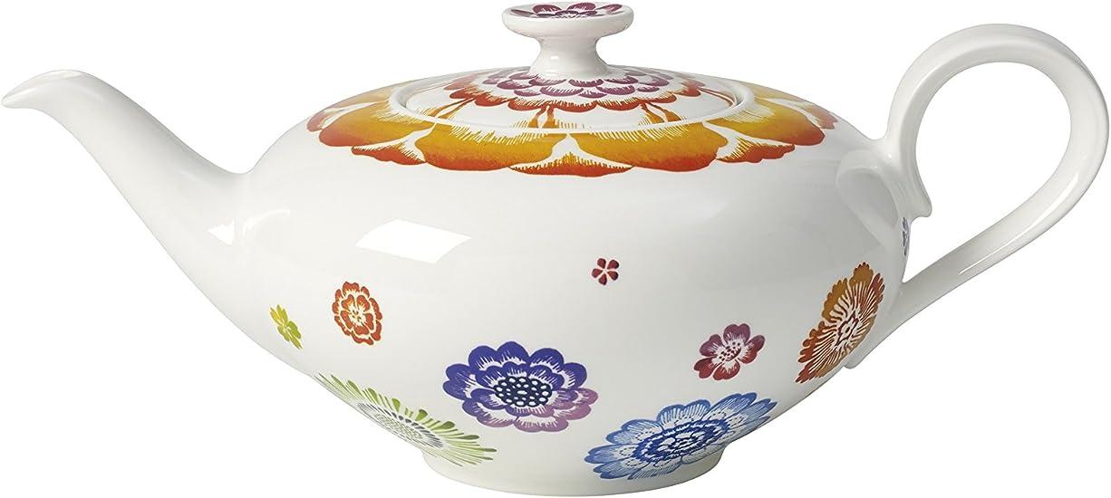 Villeroy Boch 1 Pieces 1 00 Litre Premium Porcelain Anmut Flowers Teapot 6 Person Amazon Co Uk Kitchen Home