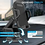 Maxboost DuraHold Series Car Phone Mount for iPhone 11 Pro Xs Max XR X 8 7 6s Plus SE,Galaxy S10 5G S10+ S10e S9,Note 10,LG G8,Pixel,HTC[Washable Strong Sticky Gel Pad/Extendable Holder Arm