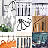 Demaxiya 36 Pack Heavy Duty S Hooks, Black S Shaped Hooks for Kitchen, Bathroom, Bedroom, and Office, Metal Steel Hanging Hangers Hooks for Kitchenware Spoons, Pans, Pots and More