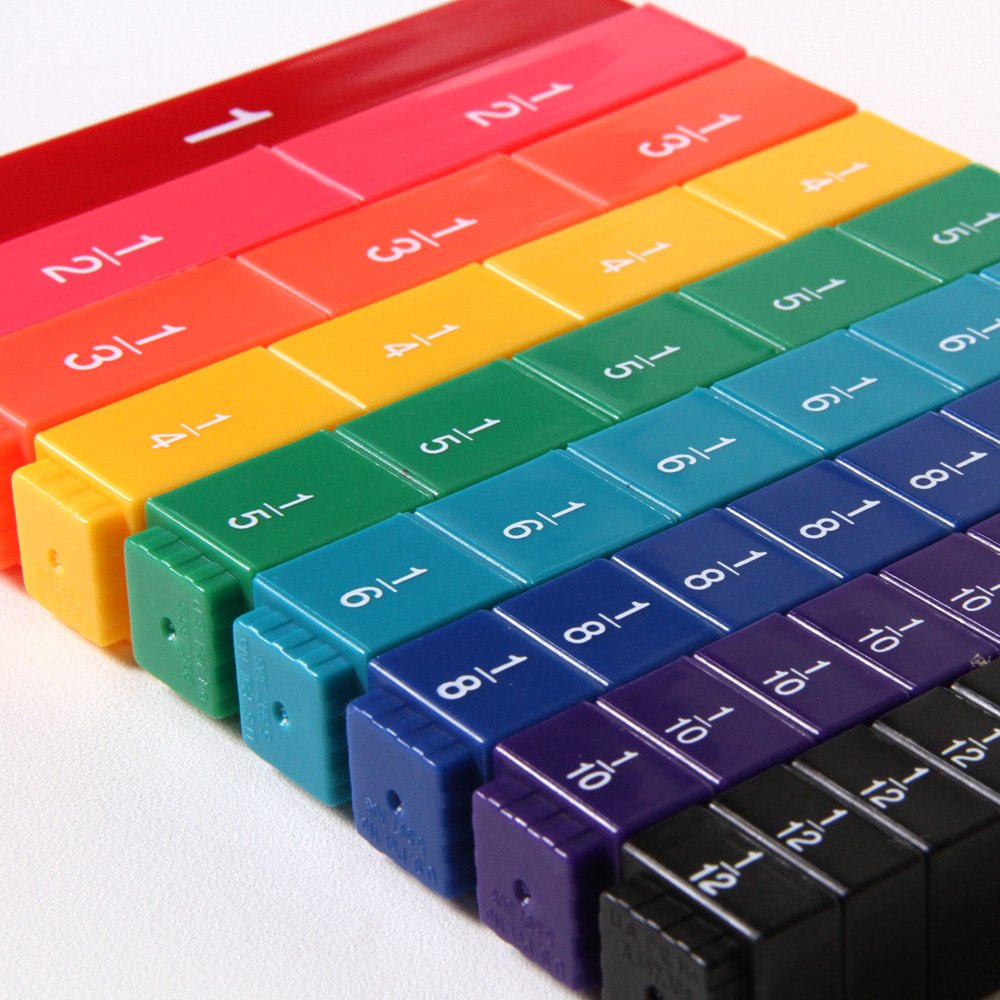 hand2mind Plastic Rainbow Fraction Tower Linking Cubes, Math Manipulative, Bulk Classroom Kit (15 Sets of 51 Cubes) by hand2mind (Image #2)