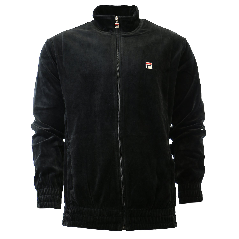 Fila Men's Velour Jacket, Black, S