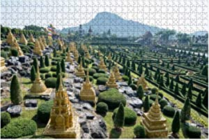 """Jigsaw Puzzles Thailand Pattaya Nong NOOCH Tropical Garden for Kids Adults Educational Intellectual Game Gift Large Puzzle Toys DIY Challenge Indoor - 20""""x30""""(1000 Pieces)"""