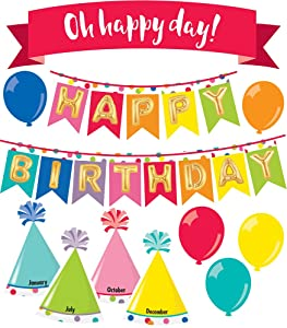 Schoolgirl Style Decorative Just Teach Happy Birthday Mini Bulletin Board Set (110397)