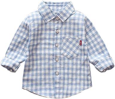 Brightup Niño Niña Bebé Camiseta de Manga Larga Camisa a ...