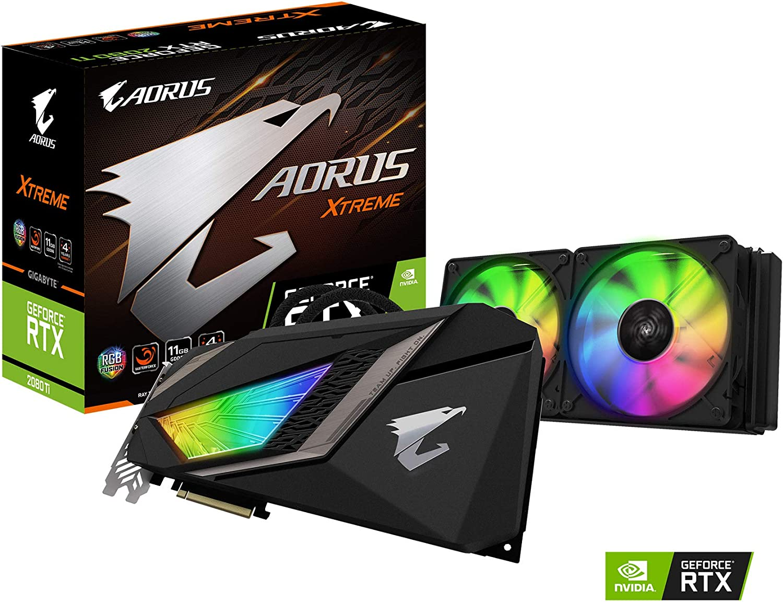 Gigabyte Tarjeta gráfica AORUS GeForce RTX 2080 Ti Xtreme WATERFORCE 11G