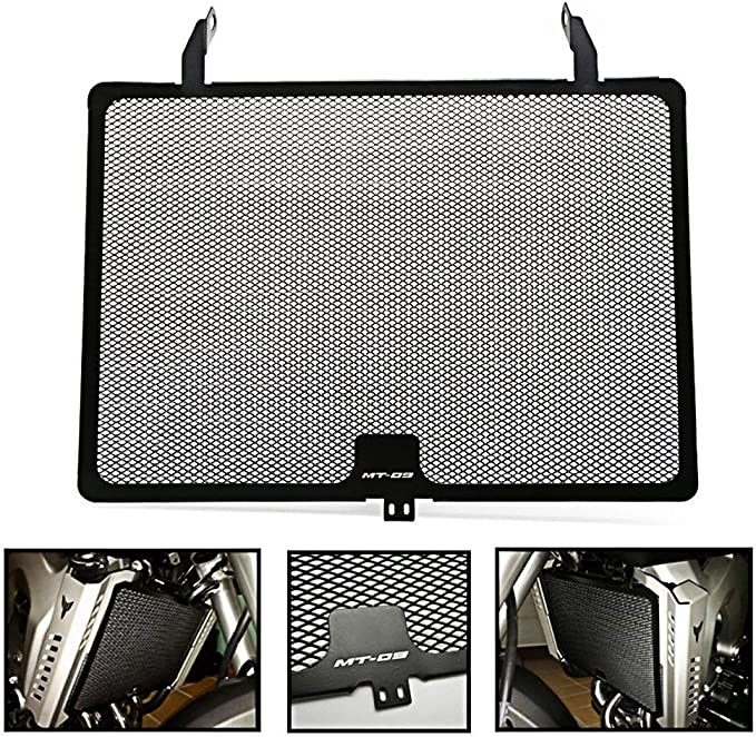 Matte Black ACAMPTAR Pair MT09 2013-2016 //for FZ09 2013-2016 Radiator Grille Guard Water Cooler Guard Radiator Cover Protector Side Cover Included