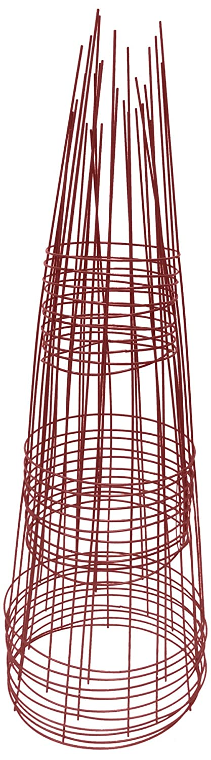 Glamos 720400 12-Inch by 33-Inch Plant Support, Red, 10-Pack