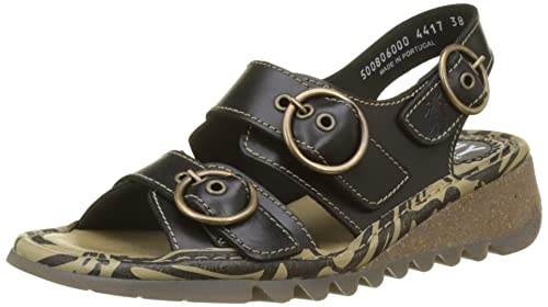 London Fly SandalsAmazon Black Tear806fly caShoes Bridle Womens 29IDHYeWE