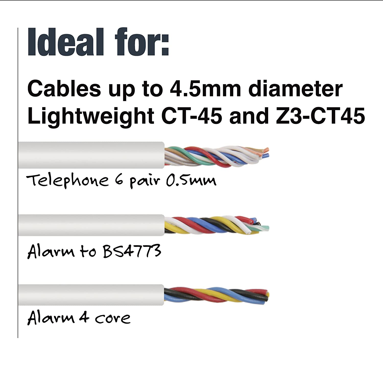 Tacwise CT-45 Grapadora met/álica manual para cables Z3-CT45 Usa grapas CT45 de 8-10mm