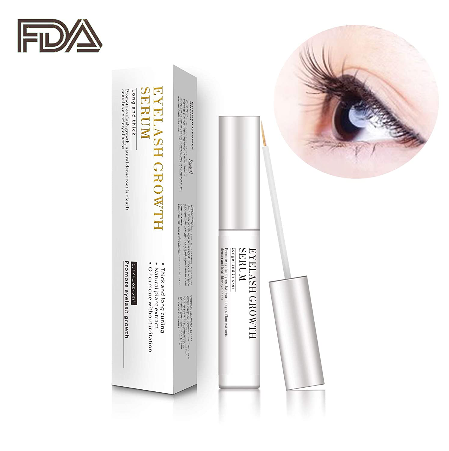 7888f49d662 Amazon.com: Eyelash Growth Serum,Natural Brow Lash Enhancer,Nourish Damaged  Lashes and Boost Rapid Growth for Any Kind of Lash and Brow: Beauty