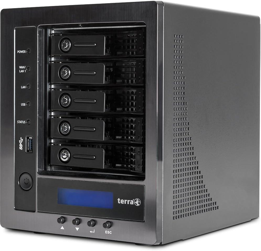 Wortmann AG Terra NASBOX 5-2004 G3 Ethernet Negro NAS - Unidad Raid (4 TB, Unidad de Disco Duro, Unidad de Disco Duro, SATA, 2000 GB, 3.5
