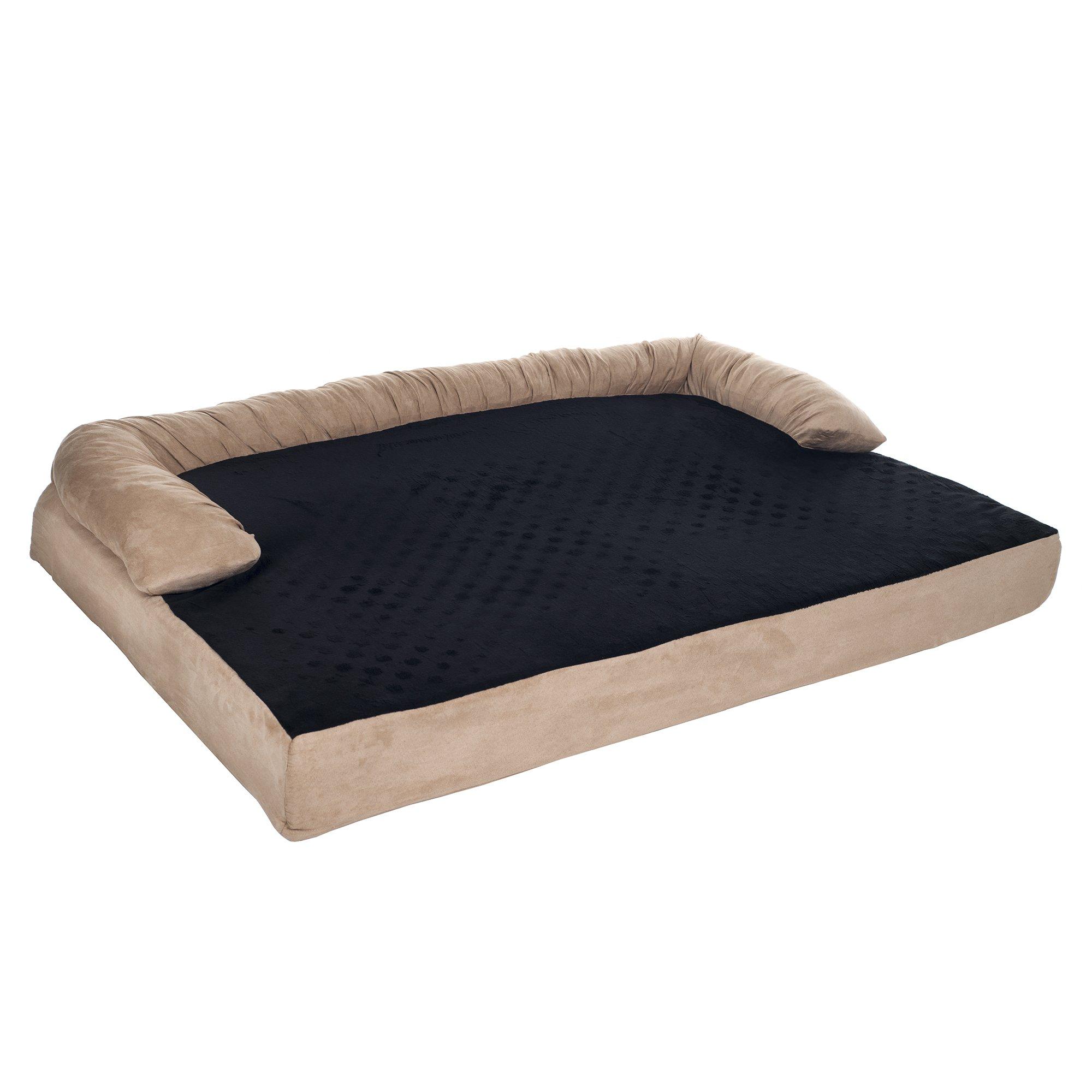 PETMAKER Orthopedic Memory Foam Pet Bed with Bolster, Large